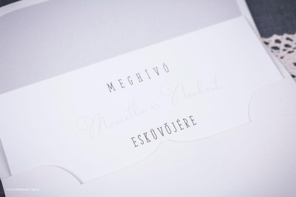 Cutie Couple XAE Collection – bélelt borítékos esküvői meghívó
