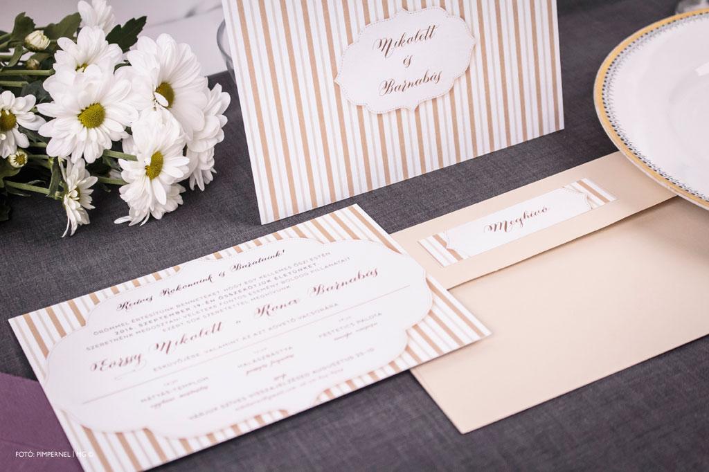 Dancing Lines Pearl Collection – esküvői meghívó