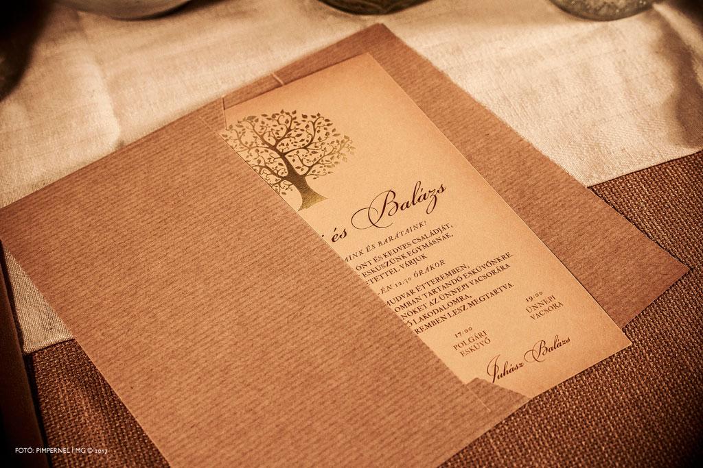 Fanni és Balázs egyedi Tree Of Love – Autumn meghívója