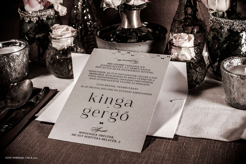 Kinga és Gergő Lady Grey meghívója