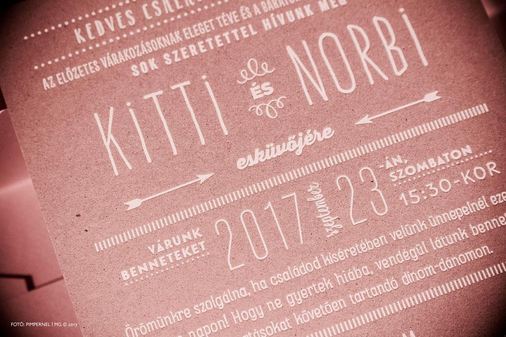 Kitti és Norbi egyedi Cool Style meghívója