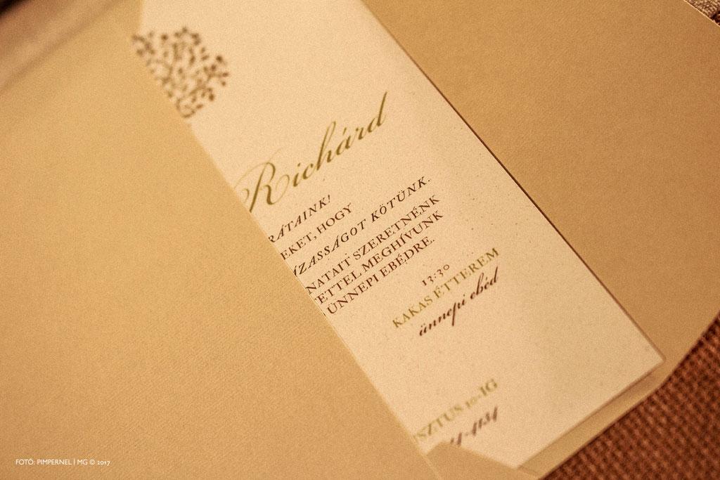 Petra és Richárd egyedi Tree Of Love meghívója