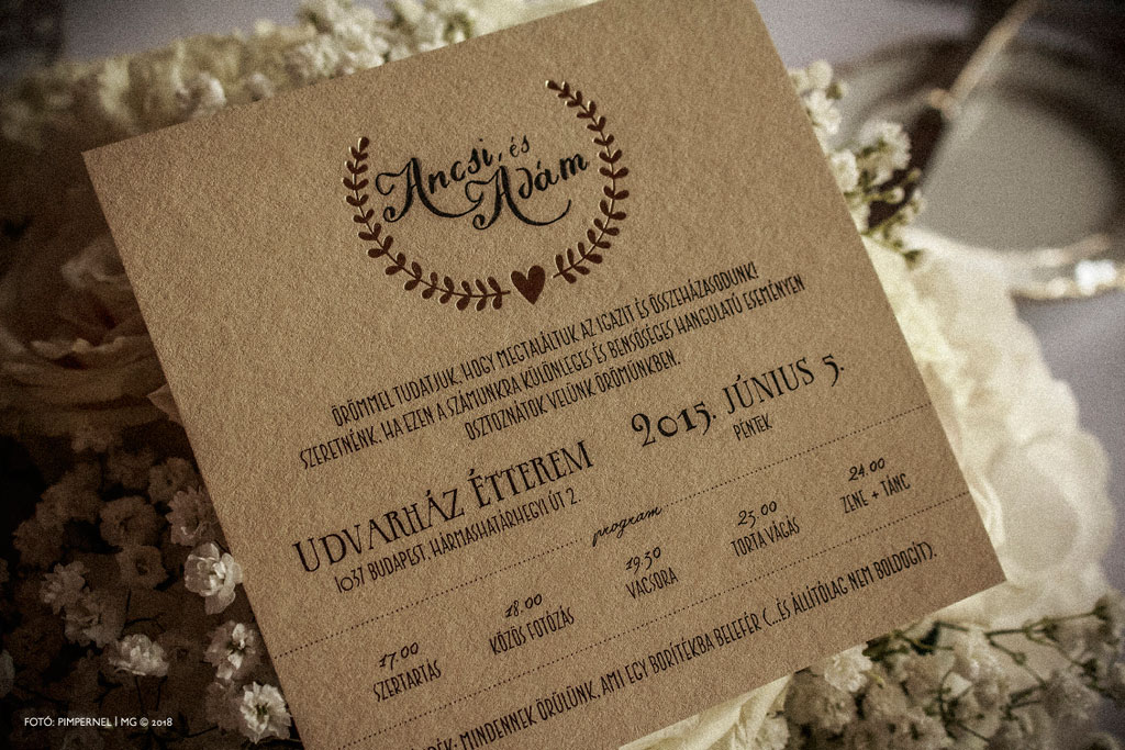 Bay Leaf Collection – Premium Rustic Edition – rusztikus esküvői meghívó