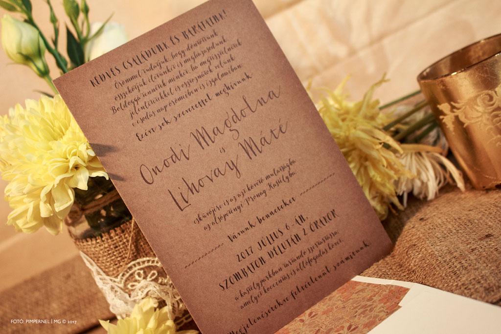 Delicate Botanicals Collection – bélelt borítékos esküvői meghívó