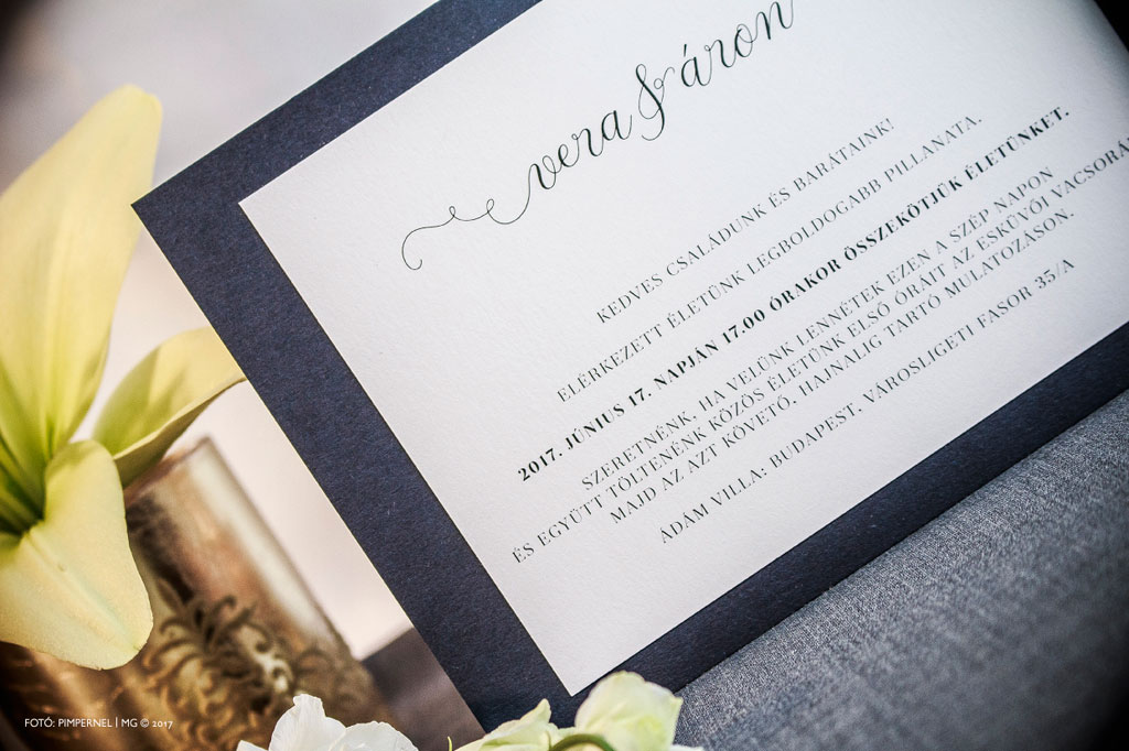Formal Champagne Elegant Edition Collection – esküvői meghívó