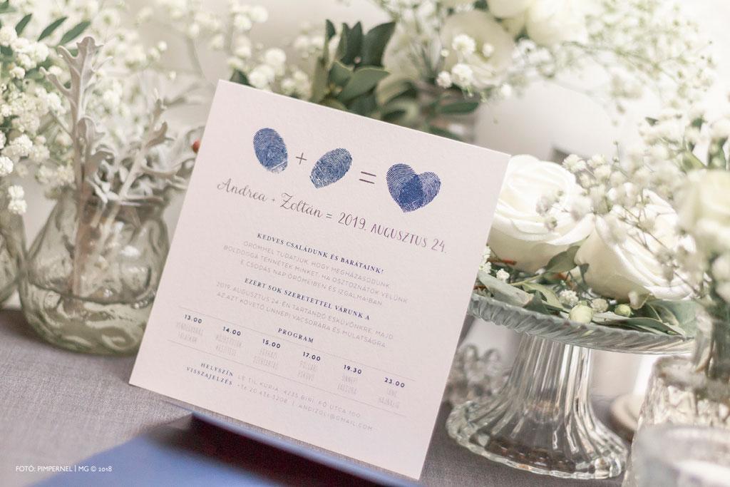 Two Hearts #19 Collection – ujjlenyomatos esküvői meghívó