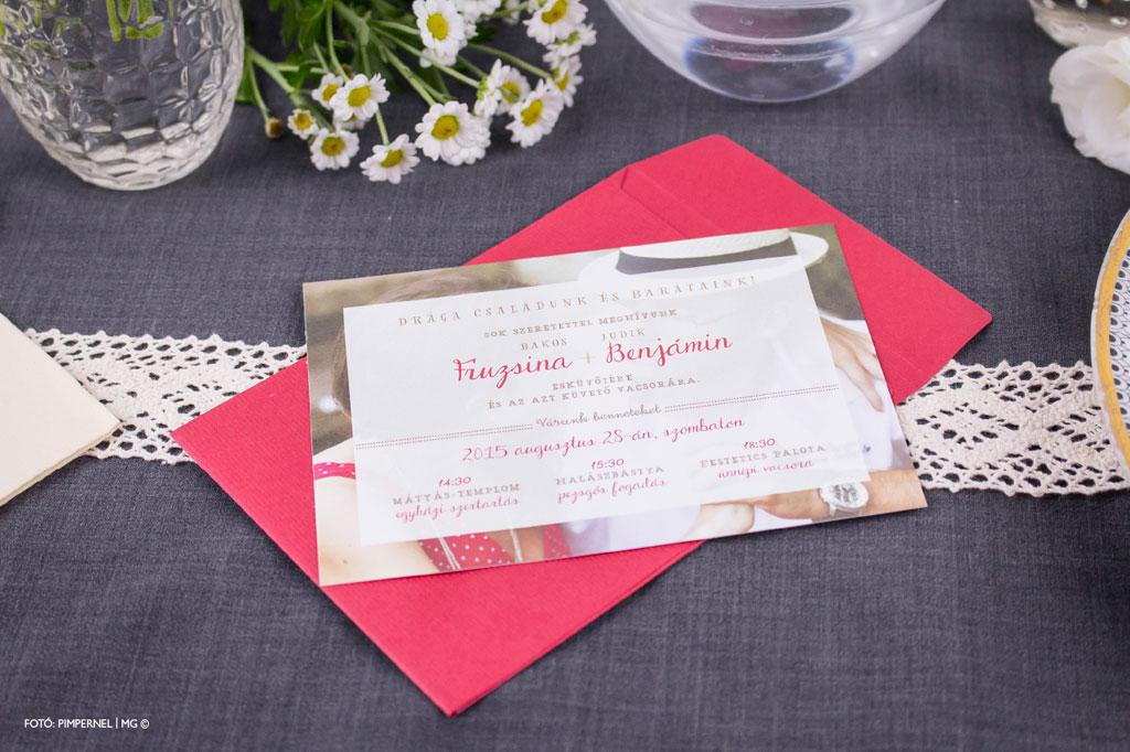 Photo & Typo Mini Collection 017 – fotós esküvői meghívó