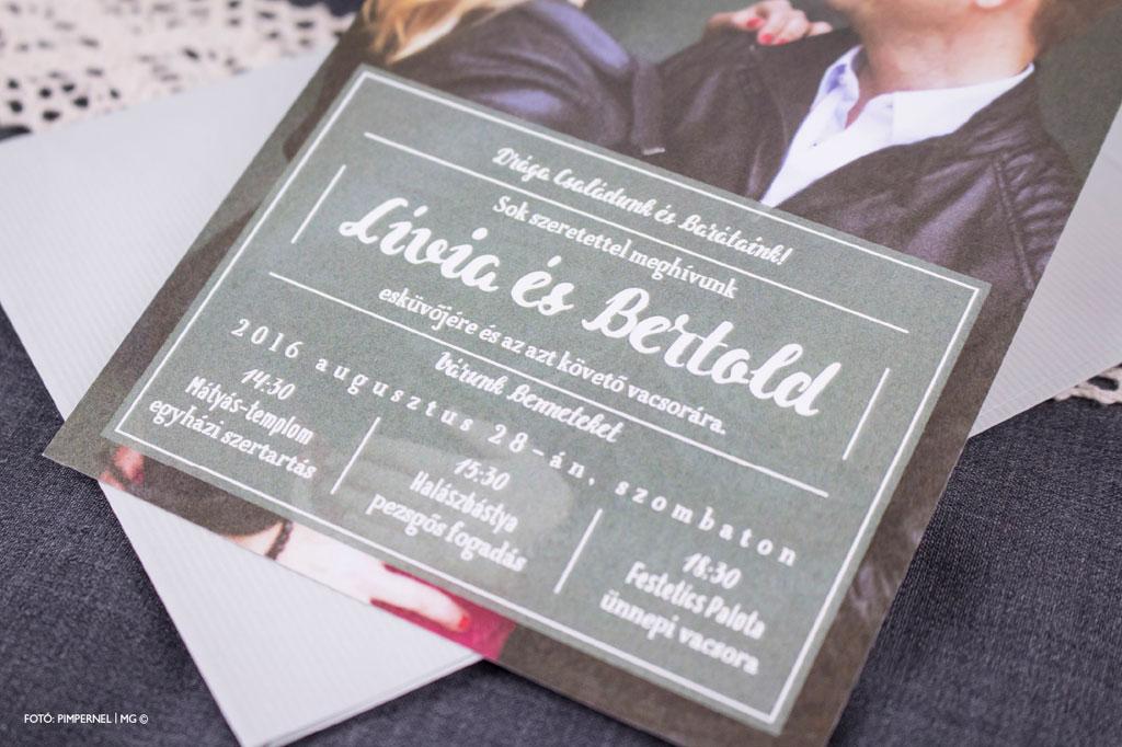 Photo & Typo Mini Collection 018 – fotós esküvői meghívó