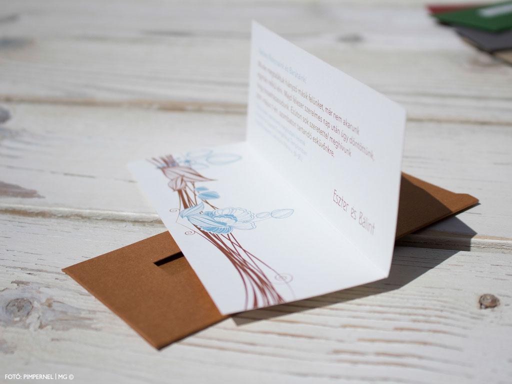 Arts And Crafts Collection – Mini tasakos esküvői meghívó