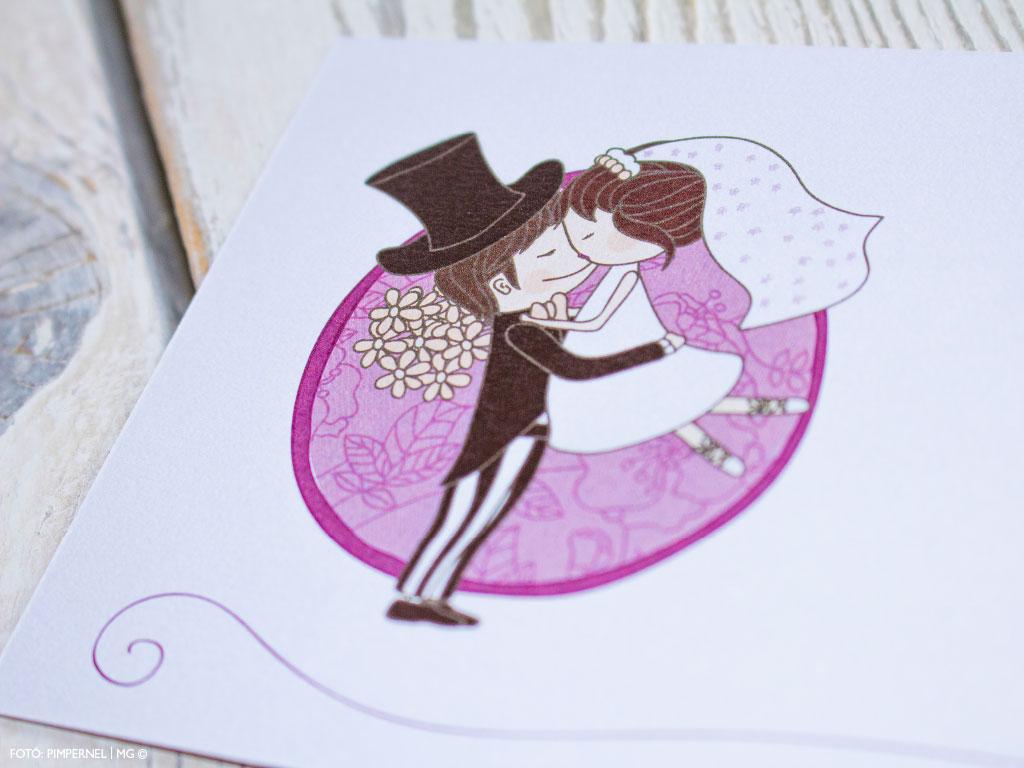 Cutie Couple LA4 – klasszikus esküvői meghívó
