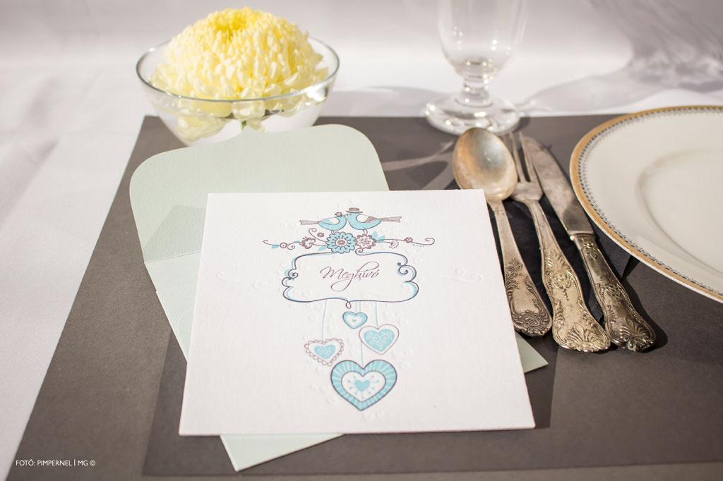 Humingbird Collection – Letterpress esküvői meghívó
