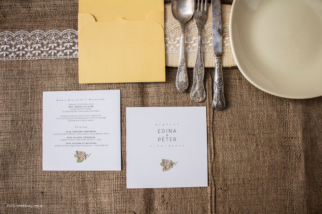 Aquarelle Rose Collection – esküvői meghívó