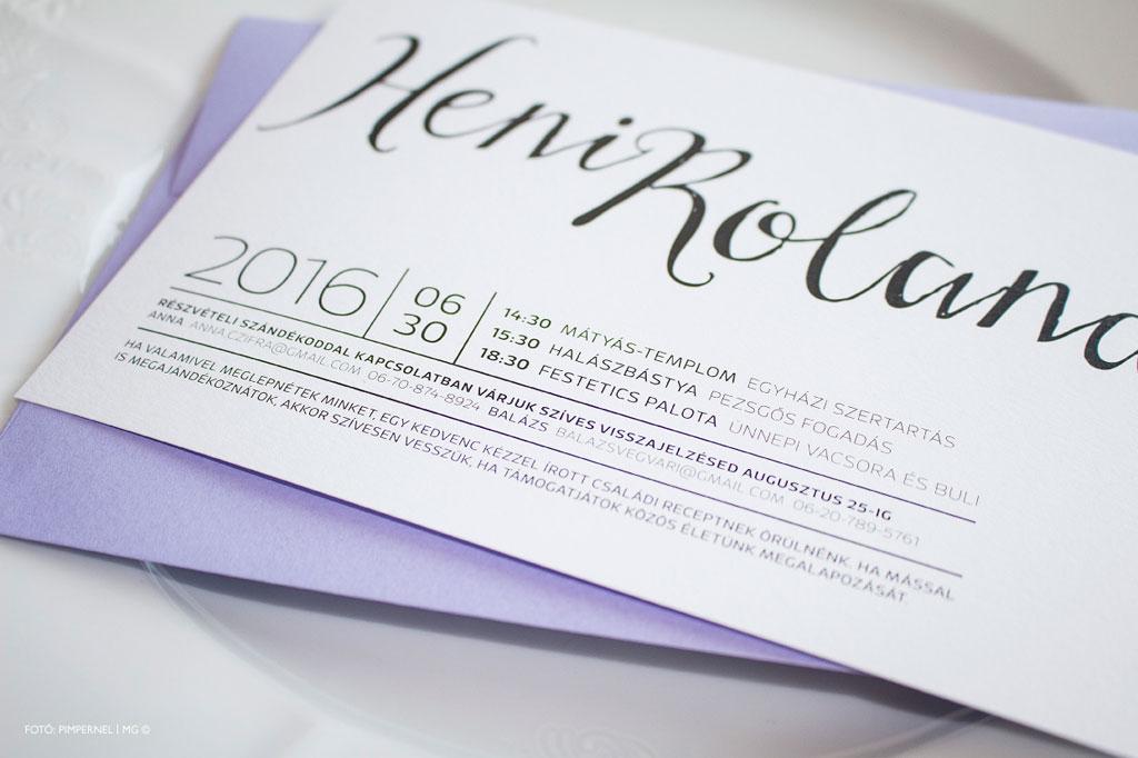 Just Hold Collection – esküvői meghívó