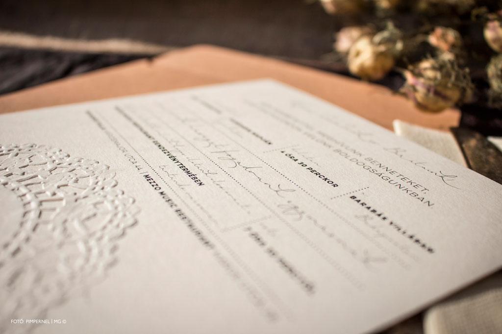 Vanilla Blossom Collection-esküvői meghívó