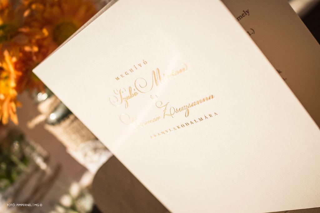 Esküvői meghívó profiktól - Meghívó AranylakodalomraEsküvői meghívó 843dc0aa4c