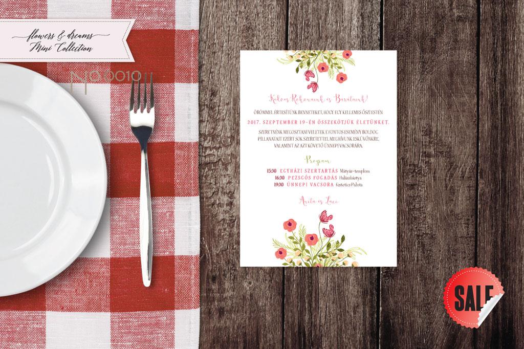 Flowers and Dreams 10 – esküvői meghívó