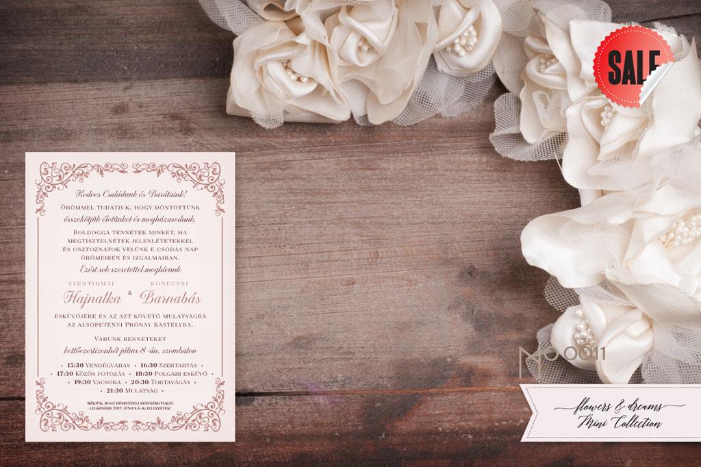 Flowers and Dreams 11- esküvői meghívó