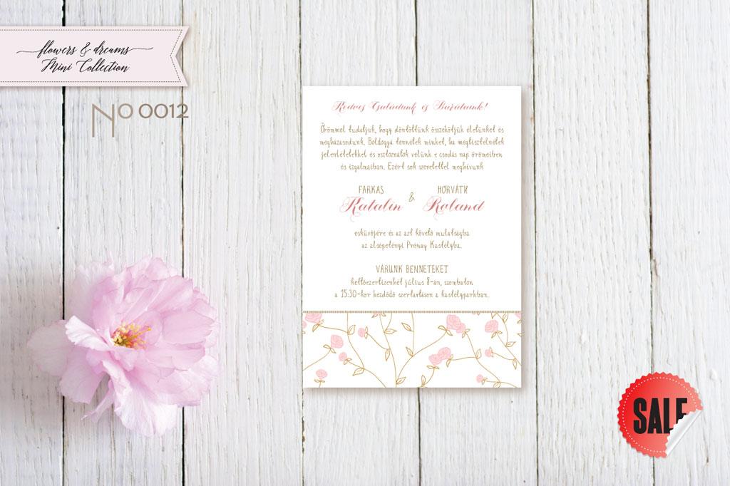 Flowers and Dreams 12 – esküvői meghívó