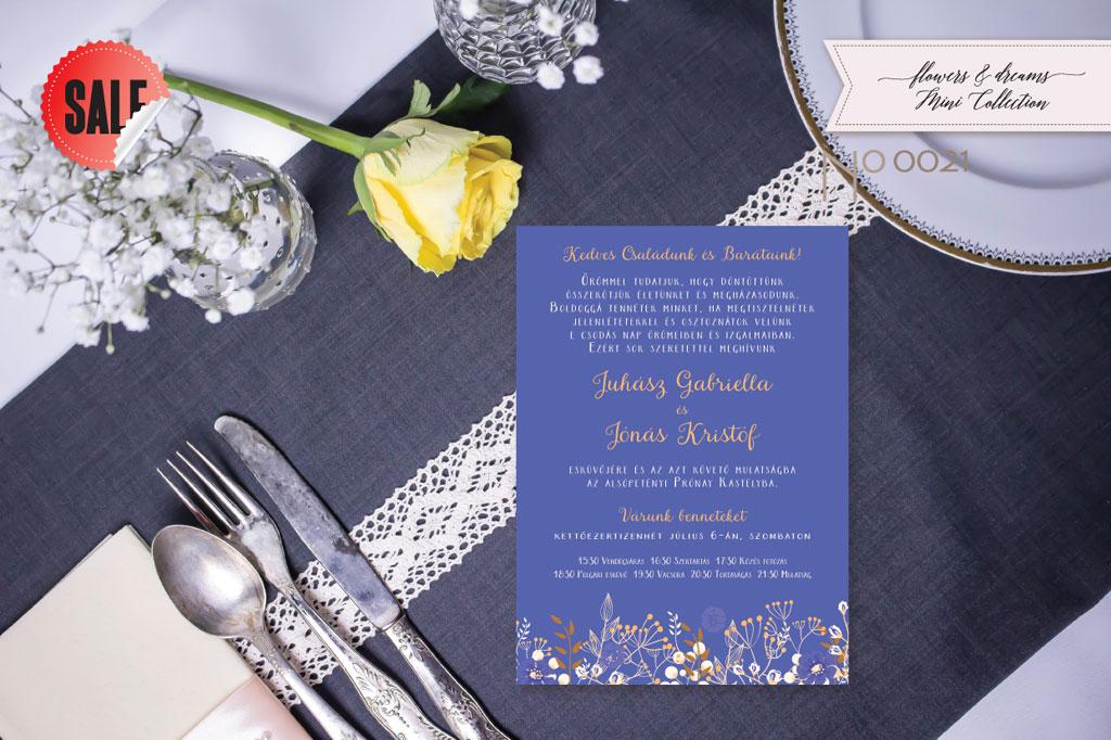 Flowers and Dreams 21 – esküvői meghívó