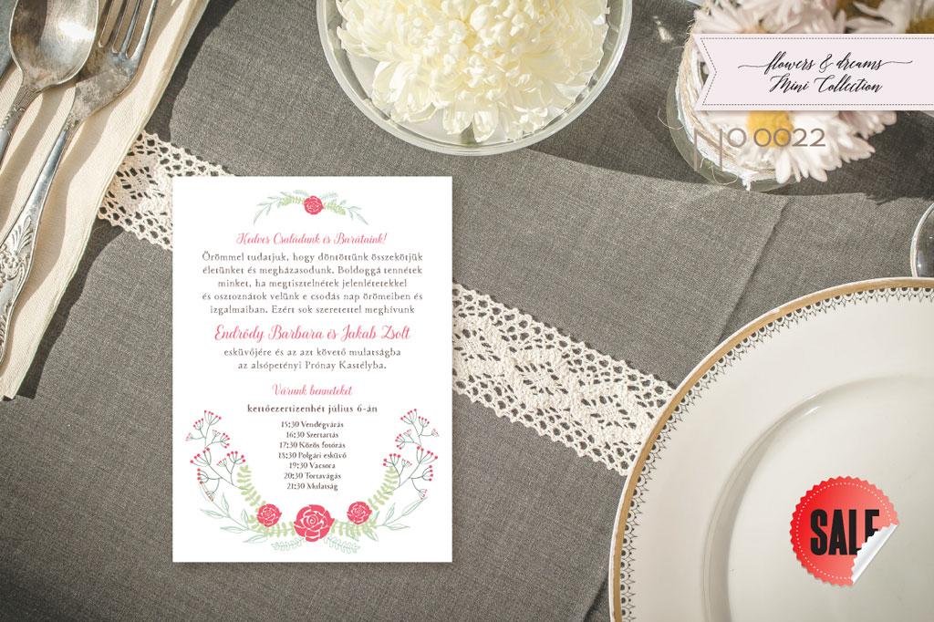 Flowers and Dreams 22 – esküvői meghívó