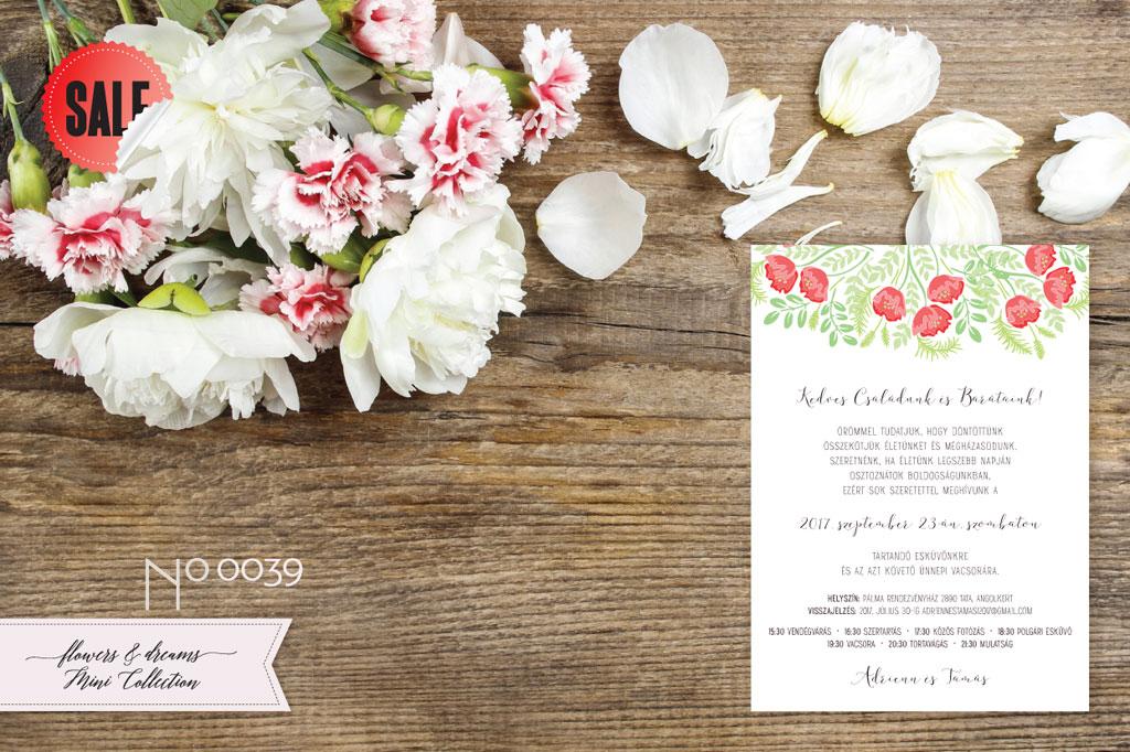 Flowers and Dreams 39 – esküvői meghívó