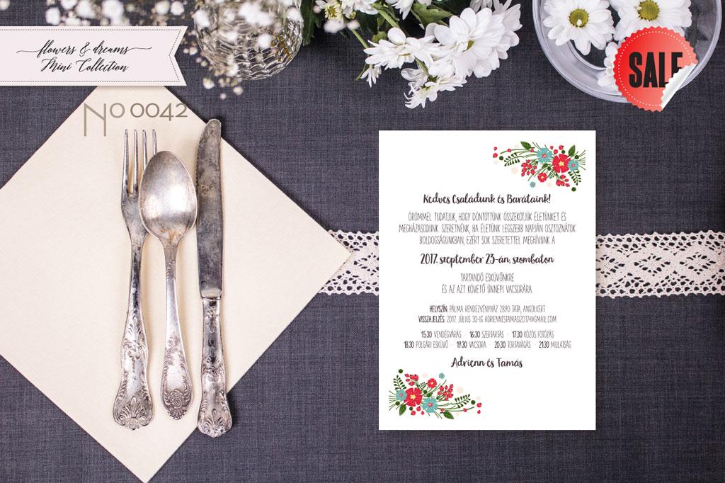Flowers and Dreams 42 – esküvői meghívó