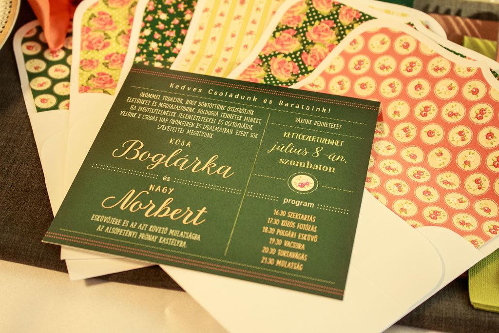 Esküvői meghívó profiktól - Bélelt borítékos nyári meghívó ... 9f0ea26847