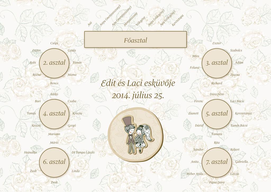 c2af3c425f Esküvői meghívó profiktól - Ültetési tábla Referencia #206Esküvői ...