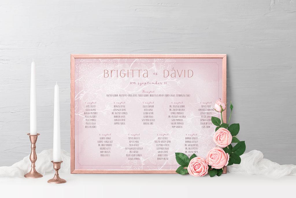 bbb52fe829 Esküvői meghívó profiktól - Ültetési tábla Natural DreamEsküvői meghívó