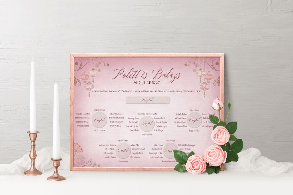 b30f452ec6 Esküvői meghívó profiktól - Ültetési tábla Romantic VintagePimpernel.hu