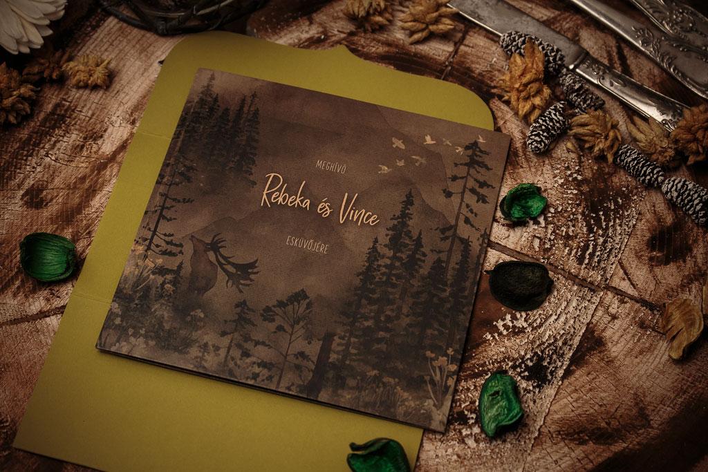 Forest Wonder Collection – erdei esküvői meghívó