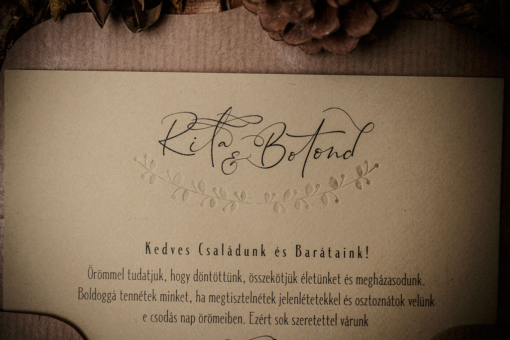 Botanique Sense Collection – dombornyomott meghívó