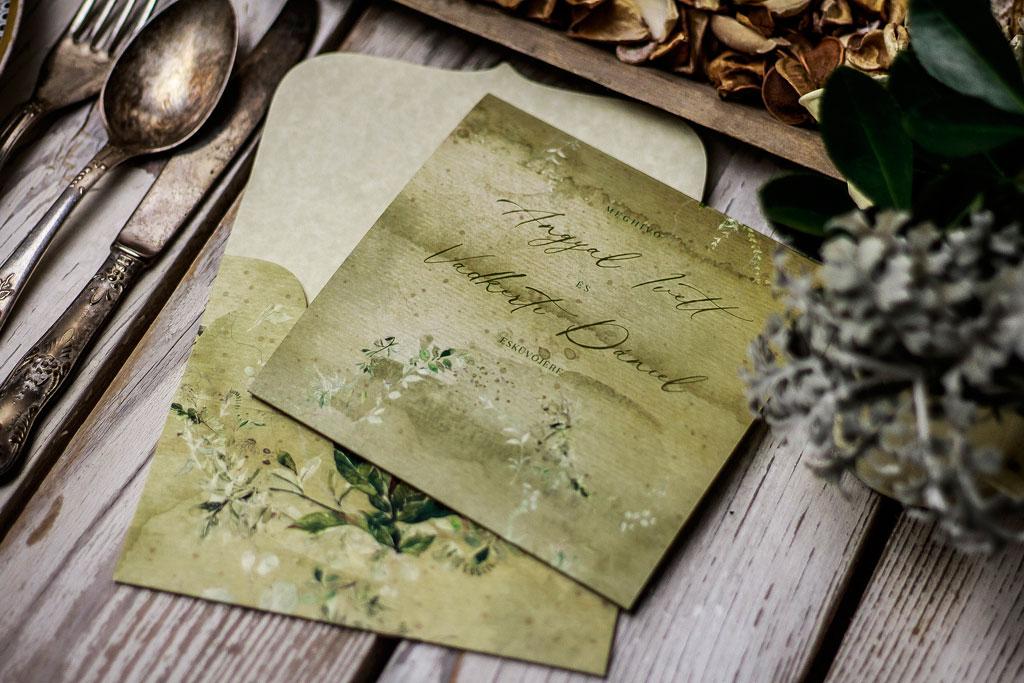 Secret Garden #06 Color Edition – esküvői meghívó