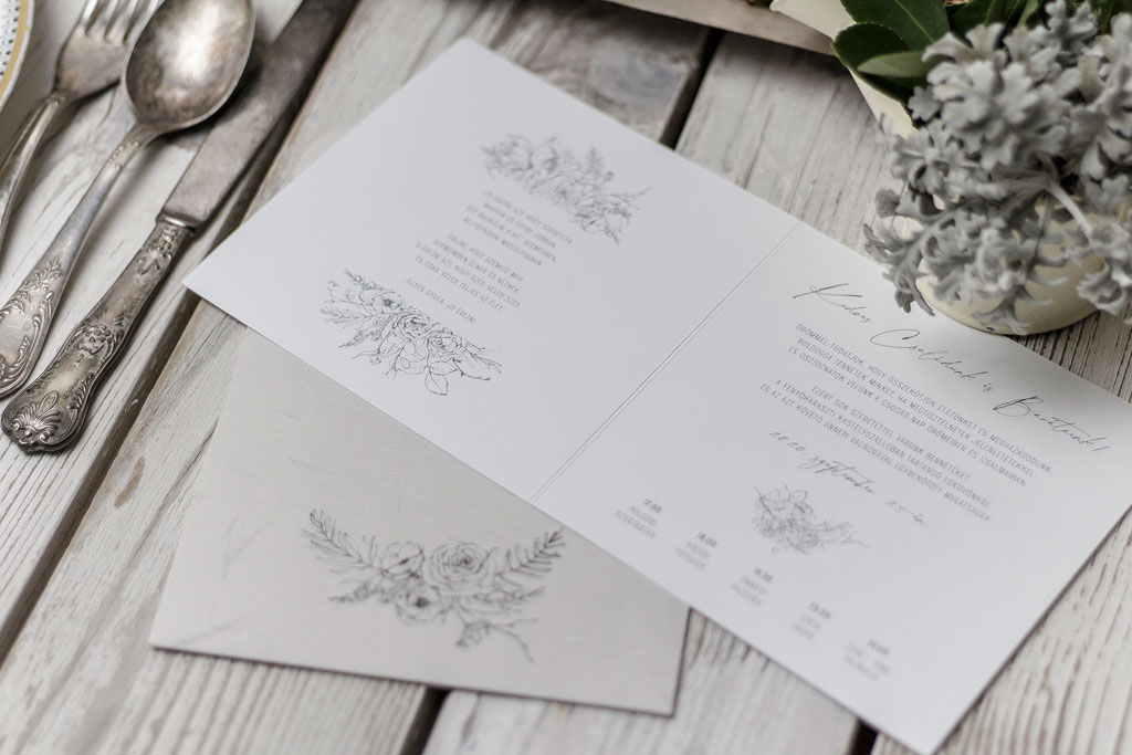 Secret Garden #02 Grey Edition – nyomtatott borítékos meghívó szürke